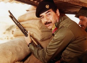 Saddam Hussain Iran-Iraqi war 1980s. Photo by AFP/Getty-images
