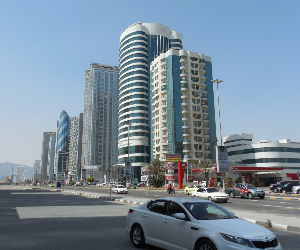 Buildings in Fujairah, Oman. Photo by: Aravind Sivaraj